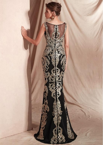 Fabulous Bateau Neckline Floor-length Mermaid Dresses With Embroidery