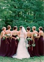 Exquisite Chiffon Spaghetti Straps Neckline A-line Bridesmaid Dresses