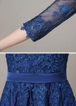 Chic Chiffon Bateau Neckline Floor-length A-line Formal / Bridesmaid Dress