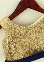 Attractive Sequin Lace & Tulle Scoop Neckline Tea-length A-line Flower Girl Dresses With Belt