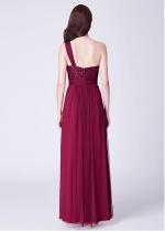 Wonderful Tulle & Sequin Lace One Shoulder Neckline Full-length A-line Bridesmaid Dresses