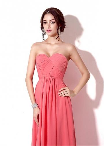 Marvelous Chiffon Sweetheart Neckline Floor-length A-line Prom / Bridesmaid Dresses