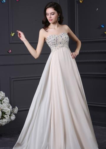 Elegant Chiffon & Stretch Satin Sweetheart Neckline A-Line Prom Dresses