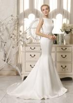 Chic Satin Bateau Neckline Mermaid Wedding Dresses