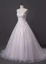 Gorgeous Tulle Sweetheart A-line Wedding Dress With Lace Appliques & Embroidery & Beading