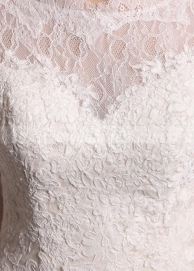 Glamorous Lace Bateau Neckline Mermaid Wedding Dresses
