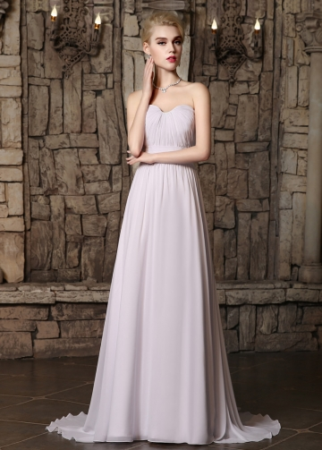 Graceful Chiffon Sweetheart Neckline A-line Wedding Dresses