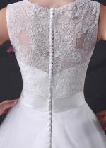 Elegant Princess Bateau Neckline A-line Wedding Dress
