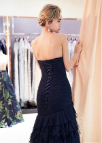Elegant Tulle Sweetheart Neckline Mermaid Formal Dress With Ruffles