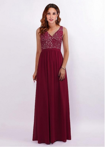Fascinating V-neck Neckline A-line Bridesmaid Dresses