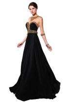 Fabulous Chiffon Jewel Neckline A-line Evening Dresses With Beadings & Rhinestones