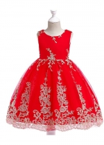 Stunning Tulle Jewel Neckline A-line Flower Girl Dresses With Lace Appliques