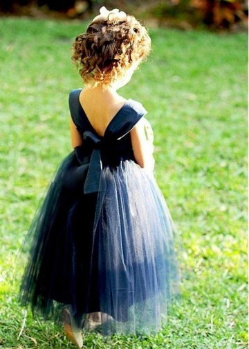 Lovely Satin & Tulle Sweetheart Neckline Ball Gown Flower Girl Dresses With Belt