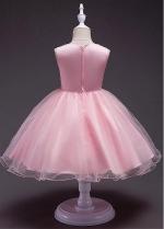 Fantastic Satin & Tulle Jewel Neckline A-line Flower Girl Dress With Beadings