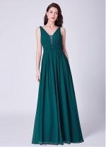Delicate Composite Silk Chiffon V-neck Neckline A-line Bridesmaid Dresses