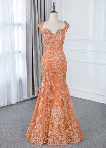Fabulous Tulle Sweetheart Neckline Floor-length Mermaid Mother Of The Bride Dresses With Lace Appliques & Beadings