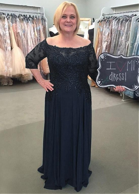Wonderful Tulle & Chiffon Off-the-shoulder Neckline A-line Mother Of The Bride Dress With Beaded Lace Appliques