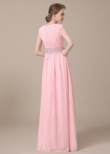 Elegant Chiffon Bateau Neckline Full-length A-line Mother of The Bride Dresses