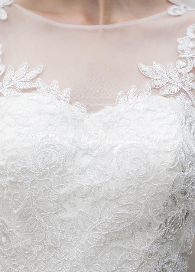 Elegant Lace Bateau Neckline Mermaid Wedding Dresses