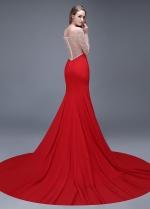 Elegant Chiffon Off-the-shoulder Neckline Mermaid Evening Dresses