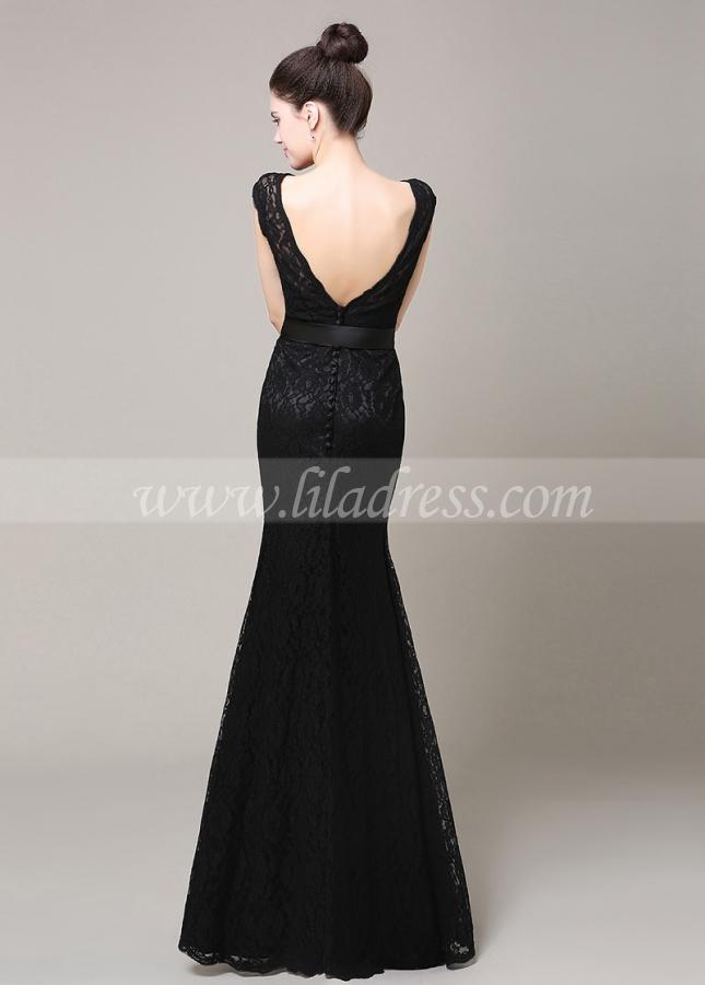 Elegant Lace Bateau Neckline Mermaid Bridesmaid Dress