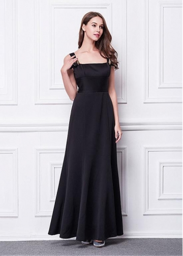 Beautiful Square Neckline A-line Evening Dresses