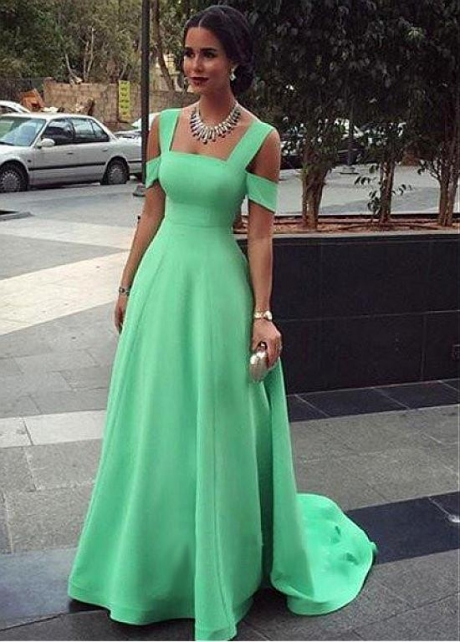 Exquisite Satin Square Neckline Full-length A-line Bridesmaid Dresses