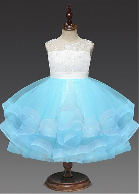 Exquisite Tulle & Lace Jewel Neckline A-line Flower Girl Dresses