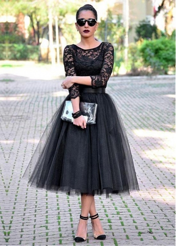 Fashionable Lace & Tulle Jewel Neckline Short A-line Homecoming Dresses With Belt