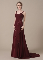Elegant Chiffon Sweetheart Neckline Full-length A-line Mother of The Bride Dresses