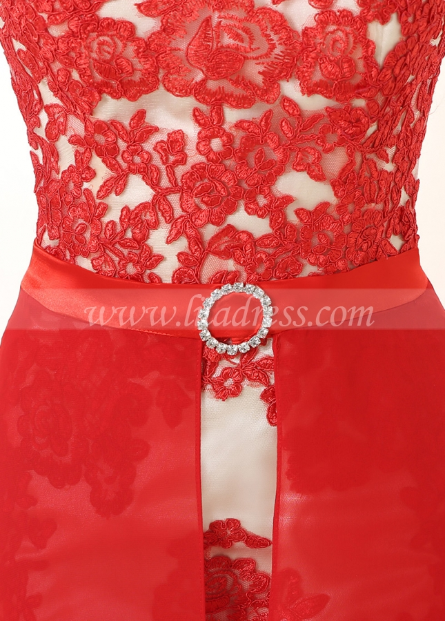 Elegant High Collar Neckline Sheath Cocktail Dresses