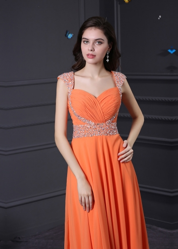 Chic Chiffon Sweetheart Neckline A-Line Prom Dresses