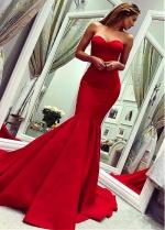 Splendid Satin Sweetheart Neckline Floor-length Mermaid Evening Dress