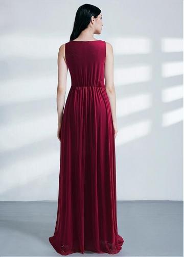 Glamorous Bateau Neckline A-line Evening Dresses