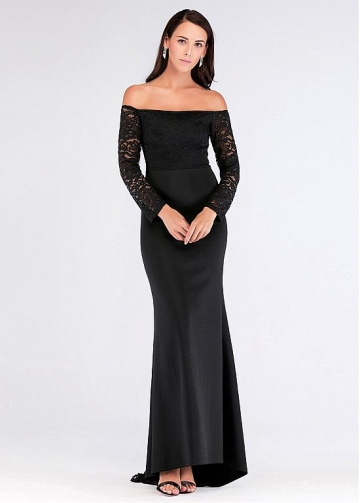 Brilliant Off-the-shoulder Neckline Mermaid Evening Dresses