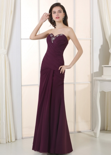 Elegant Chiffon & Stretch Satin Sweetheart Neckline A-Line Military / Mother Dresses Jacket Included