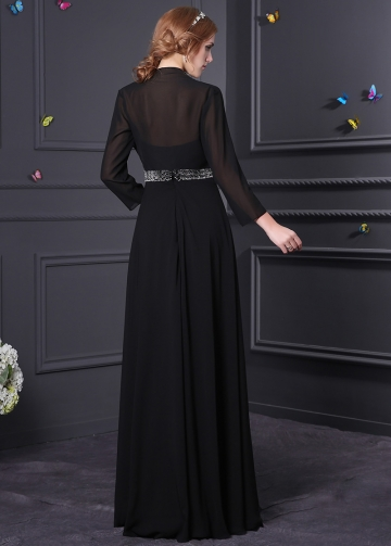 Elegant Chiffon A-line Mother of the Bride Dress With Detachable Jacket