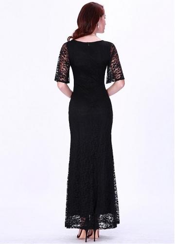 Elegant Lace V-neck Neckline Mermaid Evening Dresses
