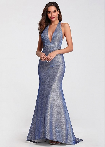 Excellent Halter Neckline Mermaid Evening Dresses