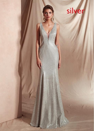 Fabulous V-neck Neckline Floor-length Mermaid Dresses