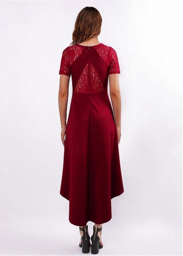 Beautiful Jewel Neckline Hi-lo A-line Bridesmaid Dresses