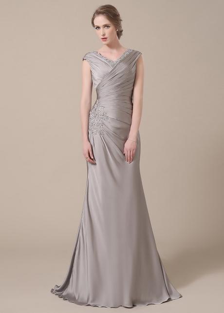 Elegant V-neck Neckline Mermaid Mother of The Bride Dresses