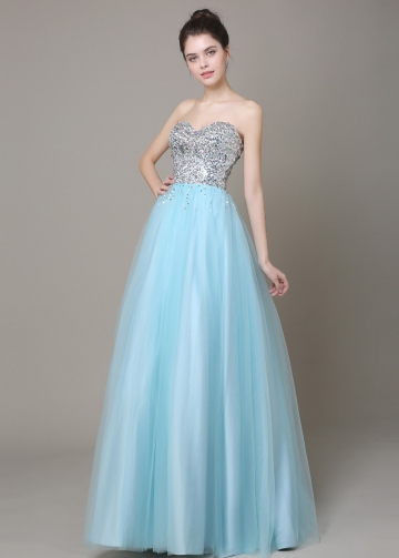 Fabulous Tulle Sweetheart Neckline A-line Prom / Sweet 16 Dresses
