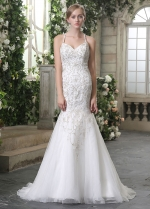Gorgeous Tulle Spaghetti Straps Neckline Mermaid Wedding Dresses