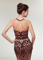 Sparkling Sequin Jewel Neckline Mermaid Evening Dress