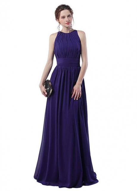 Fascinating Chiffon Jewel Neckline A-line Evening Dresses