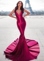 Sexy Spaghetti Straps Neckline Floor-length Mermaid Evening Dress