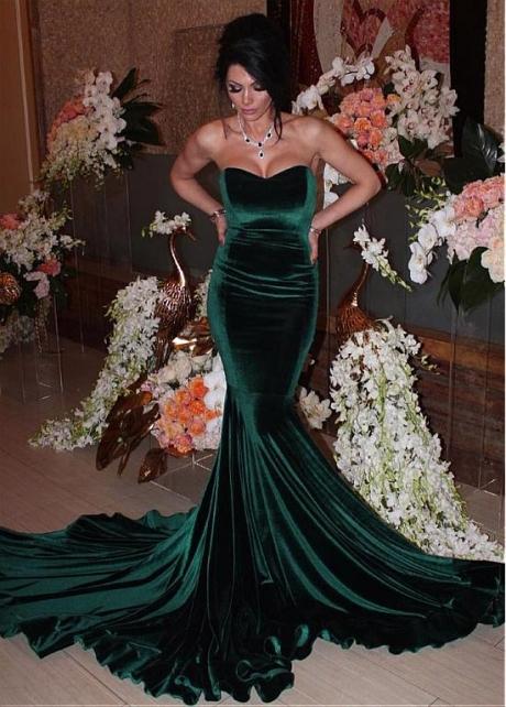 Splendid Fleece Sweetheart Neckline Floor-length Mermaid Evening Dress