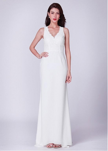 Exquisite Lace V-neck Neckline Mermaid Bridesmaid Dresses