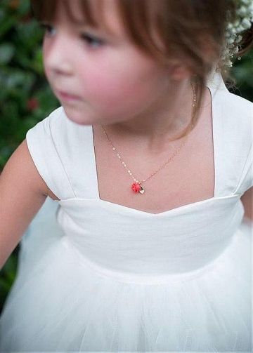 Pretty Satin & Tulle Sweetheart Neckline Ball Gown Flower Girl Dress With Elastic Waistband & Bowknot